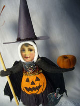 Vintage Inspired Spun Cotton Halloween Witch Girl no. HW19  image 3