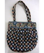 Retired VERA BRADLEY Night Owl Owls Morgan Tote Shoulder Bag Purse Pockets - $36.99