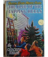 Nancy Drew mystery #16 THE CLUE OF THE TAPPING HEELS hcdj 1942A-9 Caroly... - $90.00