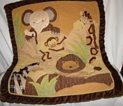 Jungle Animal Safari Heavy Crib Blanket--Lambs & Ivy - $13.00