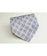 Stafford 100% Imported Silk Neck Tie Geometric Blue Squares - $8.16