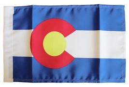 """Colorado - 9"""" x 13"""" Motorcycle Flag - $26.34"""