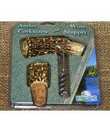 Antler Corkscrew and Wine Stopper Set - $17.98
