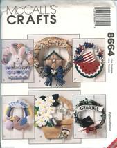 McCalls 8664 Seasonal Wreaths Pattern Easter Sp... - $7.87