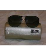 Judith Leiber Mosaic Aviator Onyx Sunglasses $700++ - $199.99