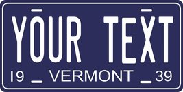 Vermont 1939 Personalized Cutoms Novelty Tag Vehicle Car Auto License Plate - $16.75