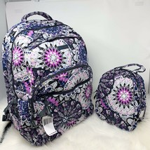 VERA BRADLEY set essential LARGE backpack & lunch bunch Mimosa Medallion... - $115.00