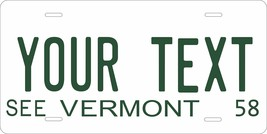 Vermont 1958 Personalized Cutoms Novelty Tag Vehicle Car Auto License Plate - $16.75
