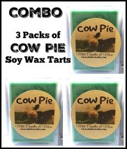 COMBO 3 PACKS OF Cow Pie - 3.2oz Pack of Soy Wax Tarts - (6 Cubes Per Pa... - £7.04 GBP