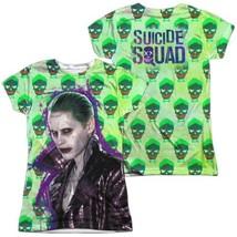 Suicide Squad Movie Logo The Joker Jacket Skull Allover Sublimation T-sh... - $30.99+