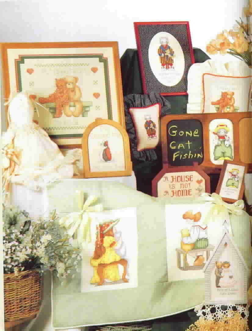 Alma Lynne Designs A Country Cat Collection Cross Stitch