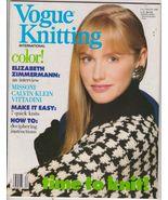 Vogue Knitting Magazine Fall Winter 1988 Design... - $9.75