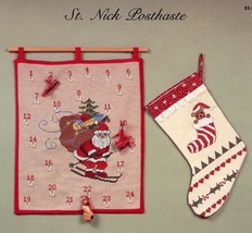 Christmas St. Nick Posthaste Advent Bear Heidi Poet Cross Stitch Pattern... - $2.67