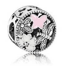 925 Sterling Silver Springtim with Soft Pink Enamel Charm Bead QJCB845 - $21.68