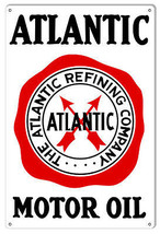 "Atlantic Refining Company Motor Oil Sign 12""x18"" - $25.74"