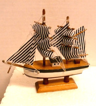 Handcrafted Wooden Sailing Ship Model - $11.95