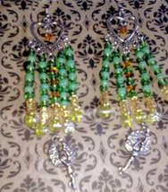 Spell Cast Fortuna earrings of fortune, luck and blessings Handcrafted - $39.00
