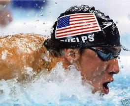 Michael Phelps Swimming Olympics SA Vintage 16X20 Color Sports Memorabilia Photo - $29.95