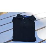 RALPH LAUREN Short Sleeve Polo Shirt, Womens M Black, Slim Fit, 100% Cotton - $11.00