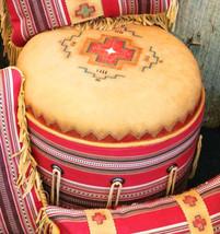 Handmade Hand Painted Barn Red Serape Padded HA... - $499.00