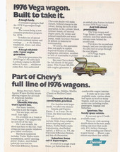 Vintage 1976 Chevy Station Vega Wagon Chevrolet Motors Color Advertiseme... - $9.99