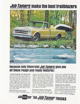 Vintage 1968 Chevy Job Tamers Pickup Truck Chevrolet Motors Gold Yellow ... - $9.99
