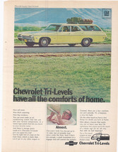 Vintage 1968 Chevy Impala 2-Seat Tri-Level Yellow Wagon Car Chevrolet Mo... - $9.99