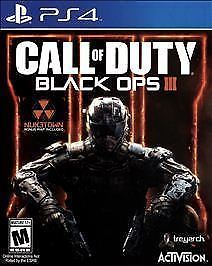 Call of Duty: Black Ops III (Sony PlayStation 4, 2015) PS4 Video Game