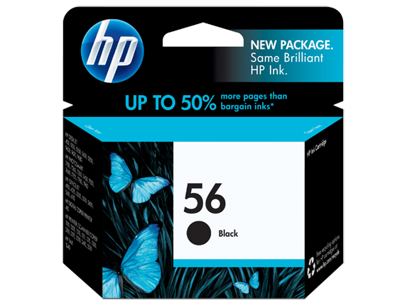 Genuine HP 56 Black Original Ink Cartridge (C6656AN)