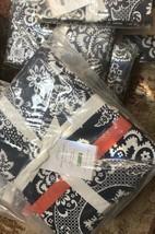 Pottery Barn Elaine Duvet Cover Set Blue Coral Queen 2 Euro Shams Victor... - $119.00