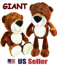 Jumbo Plush Lion Stuffed Animal Toy 36'' Inches Giant Soft Cuddle Gift N... - $49.45