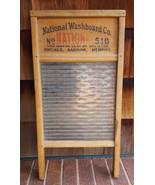 Vtg National Washboard Co.-Atlantic No. 510-Glass & Wood-Chicago Saginaw... - $56.09