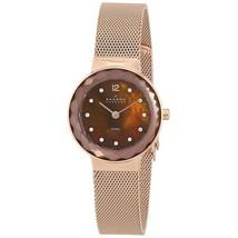 456SRR1 Skagen Leonora Rose Gold-Tone Mesh Ladies Watch - $134.77