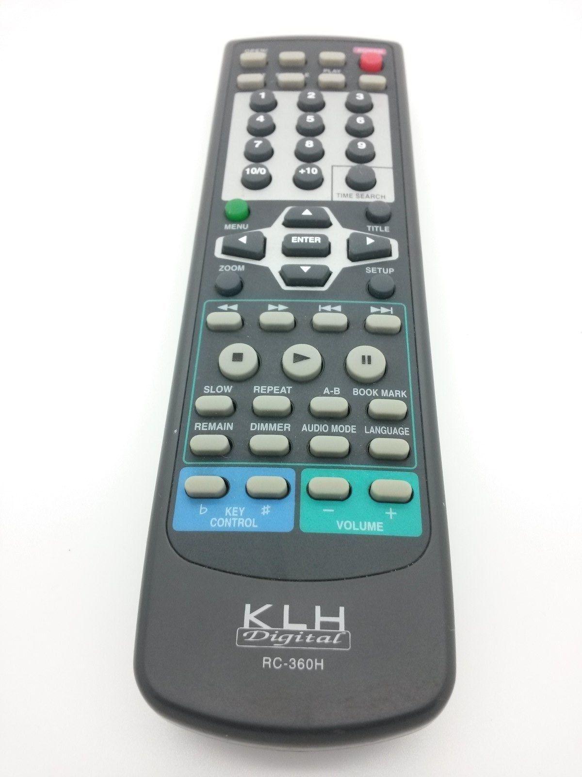 KLH DIGITAL RC360H DVD PLAYER REMOTE CONTROL DVD-8350 RC360H DVD8350