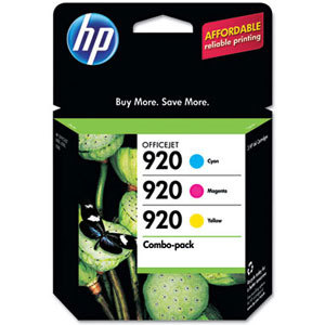 Genuine HP 920 Cyan/Magenta/Yellow Original Ink Cartridges