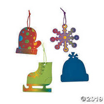 Magic Color Scratch Winter Christmas Ornaments - $9.11