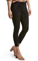 HUE Donna Nero Microcamoscio con Lacci Skimmer Leggings XS 0 2 M 8 10 U19333 Nwt