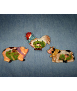 Set of 3 Farm Animal Frig Magnets Cow, Pig, and Chicken - $16.98