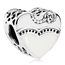 925 Sterling Silver Our Special Day Enamel Charm Bead QJCB843 - $19.99