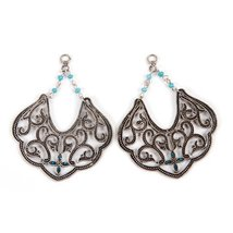 Bulk Buy: Darice DIY Crafts Jewelry Charms Antique Silver and Turquoise ... - $24.48