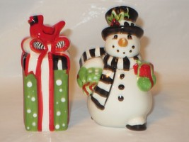 Fitz & Floyd Frosty's Frolic Salt & Pepper Shakers NIB - €12,95 EUR