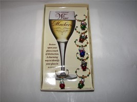 SNOWMAN ORNAMENT WINE GLASS CHARMS MARKERS 6PC NEW - $8.82