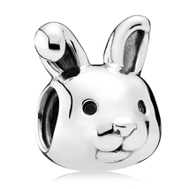 925 Sterling Silver Remarkable Rabbit Animal Charm Bead For Bracelet QJC... - $18.66