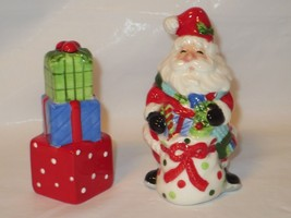 Fitz & Floyd Be Merry Santa ceramic Salt & Pepp... - $14.70