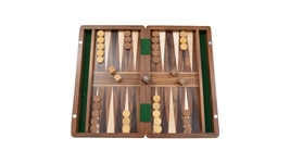 Chessbazaar Backgammon Set in Sheesham and Box wood with Board,Dice&Stones BG202 - $68.99