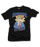 AMERICA YOU'RE FFF**KED! FUNNY ANTI-TRUMP SHIRT L Black Men's Tee (6.1oz) - $14.76