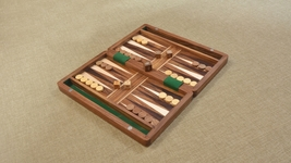 Chessbazaar Backgammon Set in Sheesham and Box wood with Board,Dice&Stones BG203 - $124.99