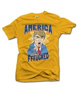 AMERICA YOU'RE FFF**KED! FUNNY ANTI-TRUMP SHIRT 2X Gold Men's Tee (6.1oz) - $19.80
