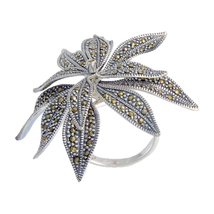 Aura 925 Sterling Silver Marcasite Ring (MR00456) - £40.90 GBP
