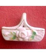 Occupied Japan miniature ceramic basket - $5.50